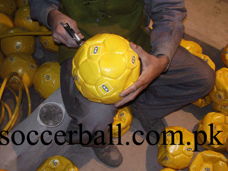 soccer ball inflation